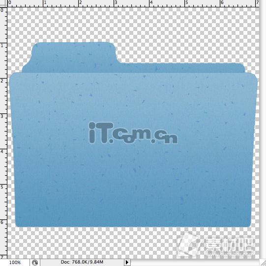 PS教你绘制一个文件夹图标简单教程