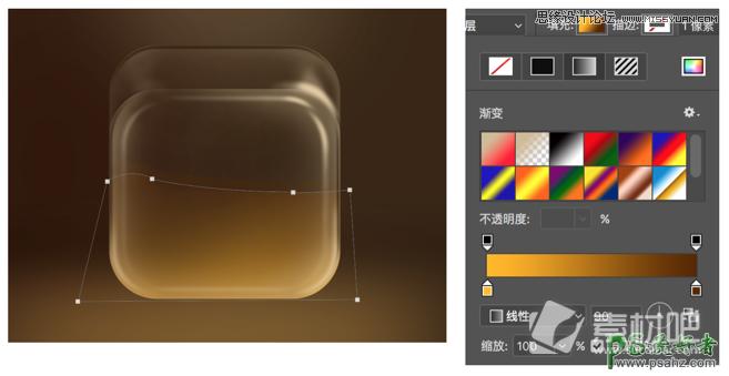 Photoshop绘制半透明效果的塑料袋图标,立体风格的塑料图标。