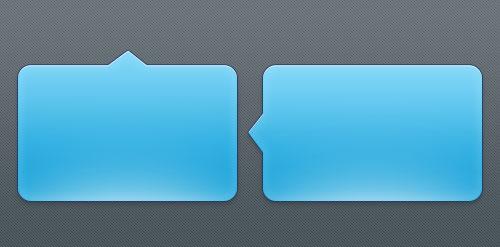 蓝色精致的文本标签框PSD素材