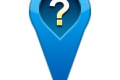 素材/蓝色问号GPS导航定位图标PSD素材