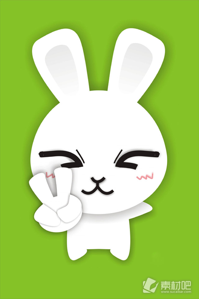 卡通小白兔丰富的表情手机壁纸 动漫图片 素材吧 -卡通小白兔丰富的表