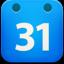 精致的日历方形图标64px