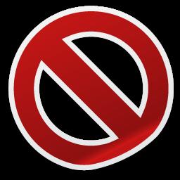 删除禁止剪纸风格图标
