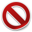 删除禁止剪纸风格图标64px