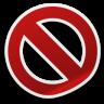 删除禁止剪纸风格图标96px