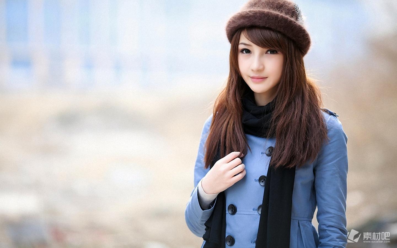 阳光青春活力美女宽屏桌面壁纸 美女图片 素材吧 -阳光青春活力美女宽高清图片