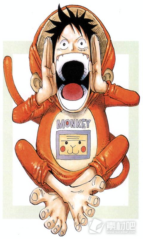 海贼王路飞搞笑卖萌手机壁纸 动漫图片 素材吧