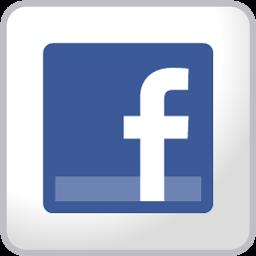 Facebook白色方形图标 图标下载 素材吧