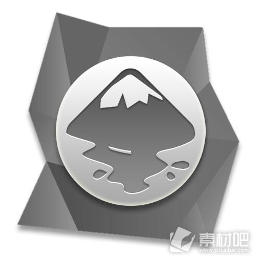 矢量绘图软件灰色宝石图标