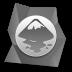 矢量绘图软件灰色宝石图标72px