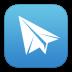 ios7纸飞机软件图标72px
