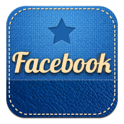 Facebook蓝色皮革图标 图标下载 素材吧