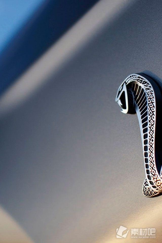 福特野马眼镜蛇标志手机壁纸高清图片