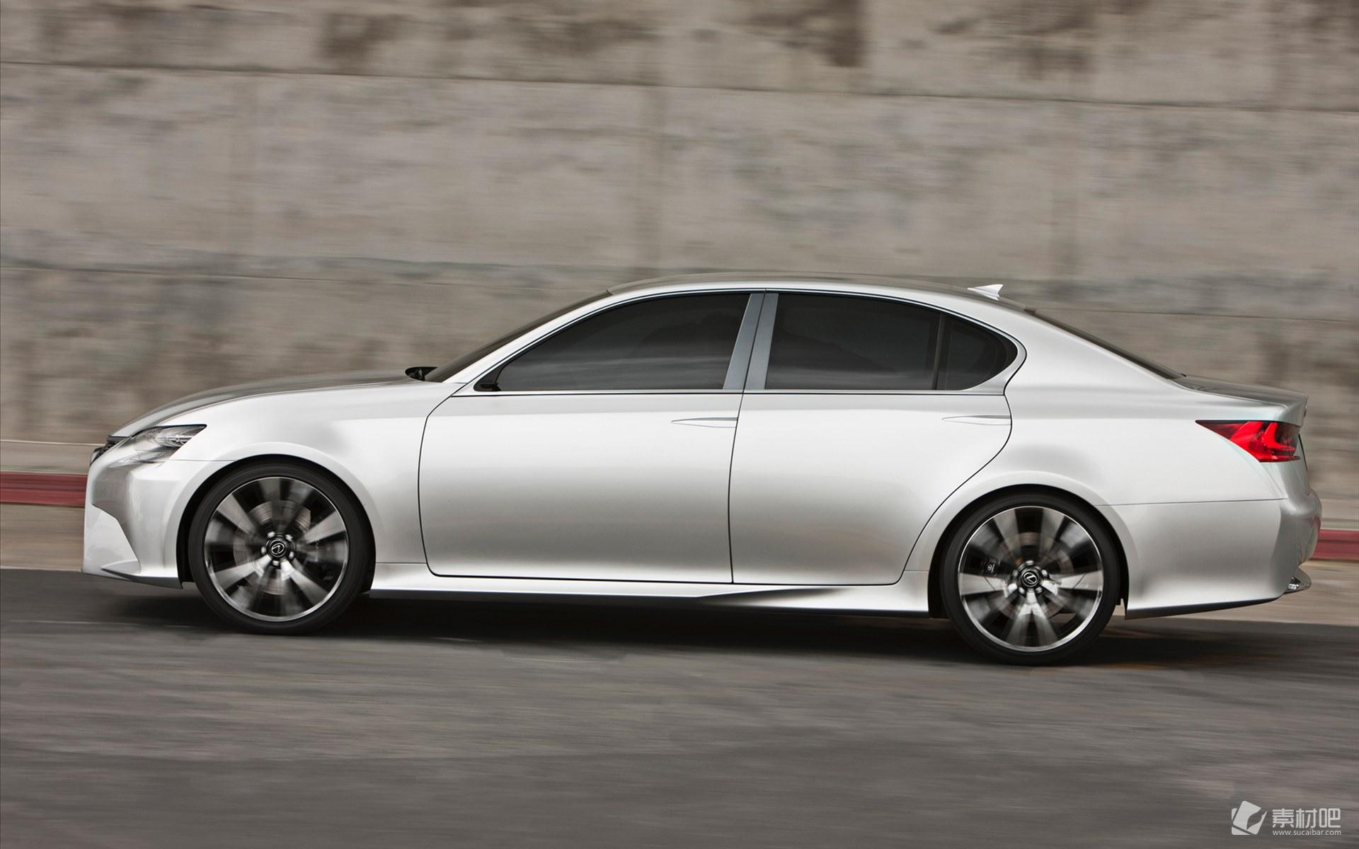 雷克萨斯银色轿车桌面壁纸_汽车图片_素材吧