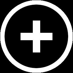 添加加号透明圆形图标
