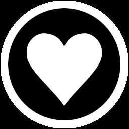 爱心收藏透明圆形图标 图标下载 素材吧