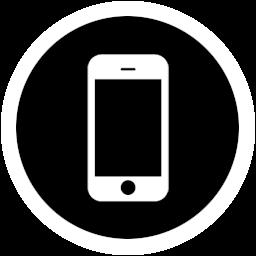 智能手机透明圆形图标 图标下载 素材吧