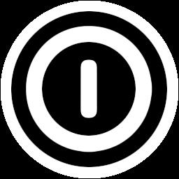 关闭按钮透明圆形图标