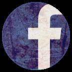 陈旧的Facebook圆形图标