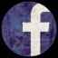 陈旧的Facebook圆形图标64px