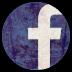 陈旧的Facebook圆形图标72px