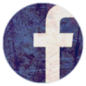 陈旧的Facebook圆形图标96px