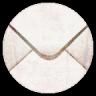 陈旧的邮箱信封图标96px