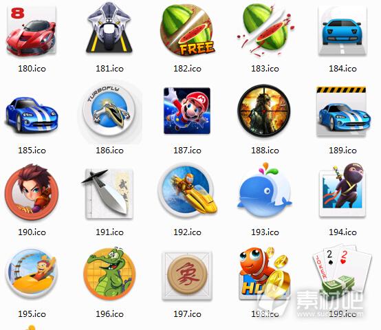 手机游戏创意图标素材