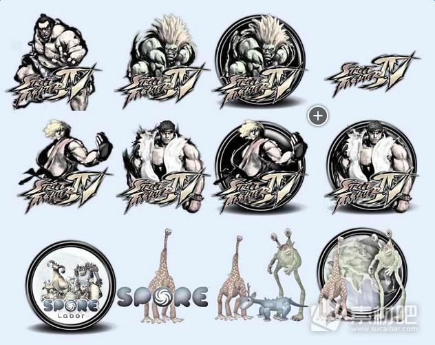 游戏中的怪物图标PNG图片素材