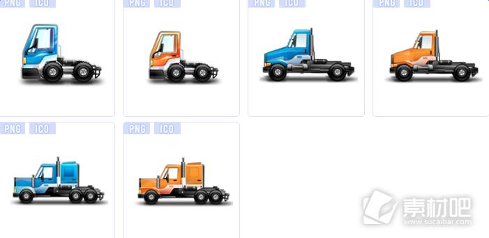 城市卡车系列图标下载