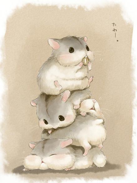 鼠可爱卡通图片