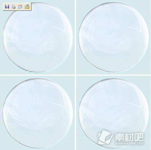 蓝色圆形尺寸图标素材下载