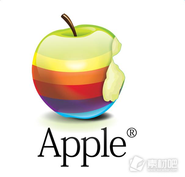 彩虹苹果超清PNG图标
