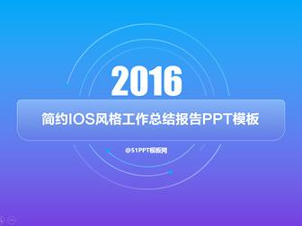 蓝紫渐变背景简约IOS风格工作总结报告ppt模板