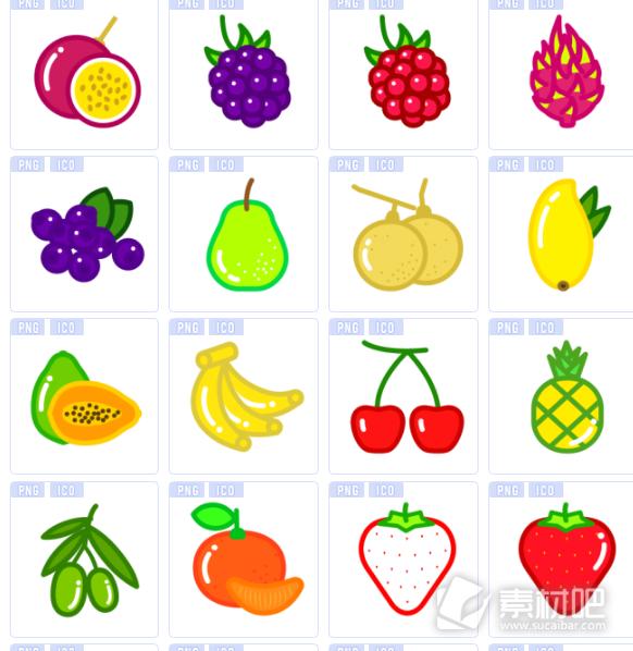 美味水果图标下载