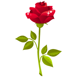 一枝玫瑰花图标png 玫瑰花图标 素材吧