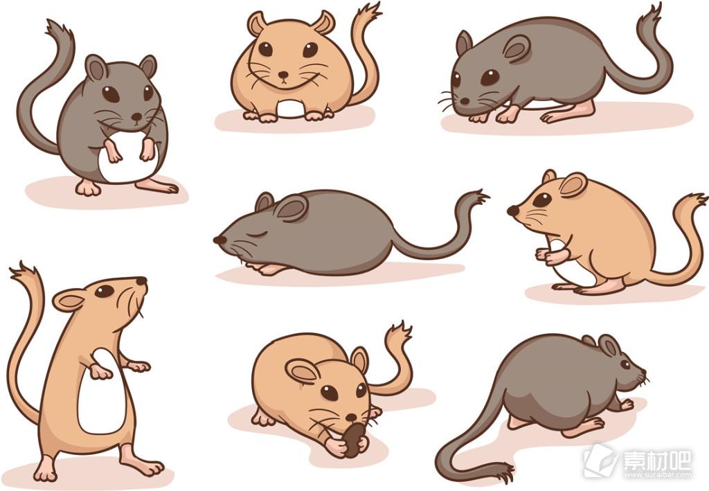 可爱卡通手绘老鼠