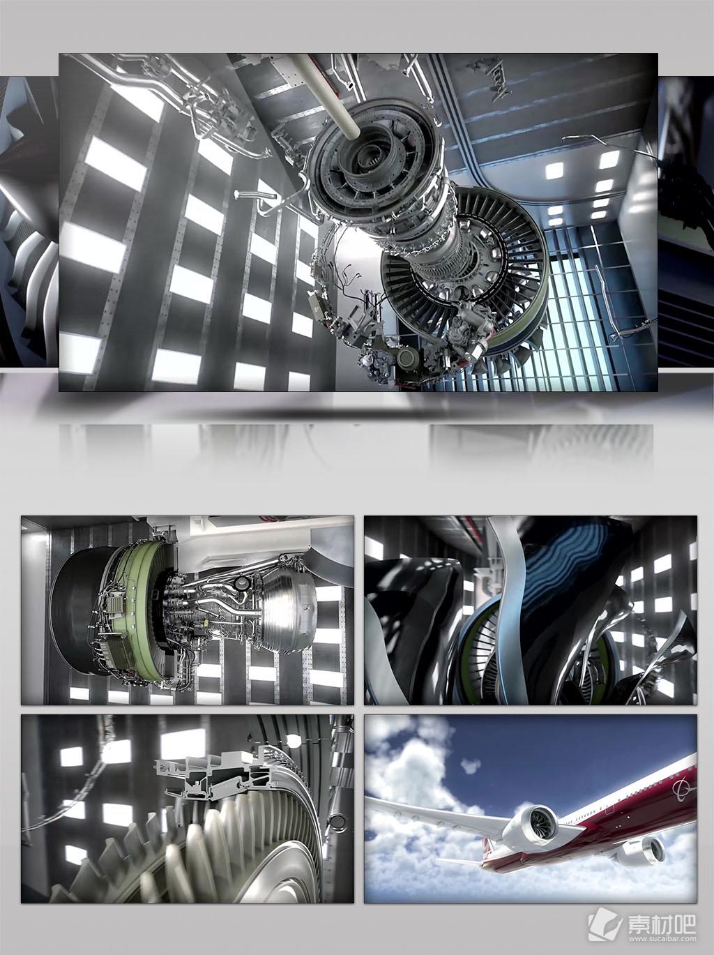 飞机航空发动机工作原理三维仿真动画