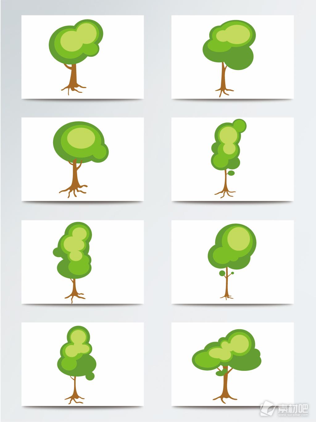 抽象树木AI素材
