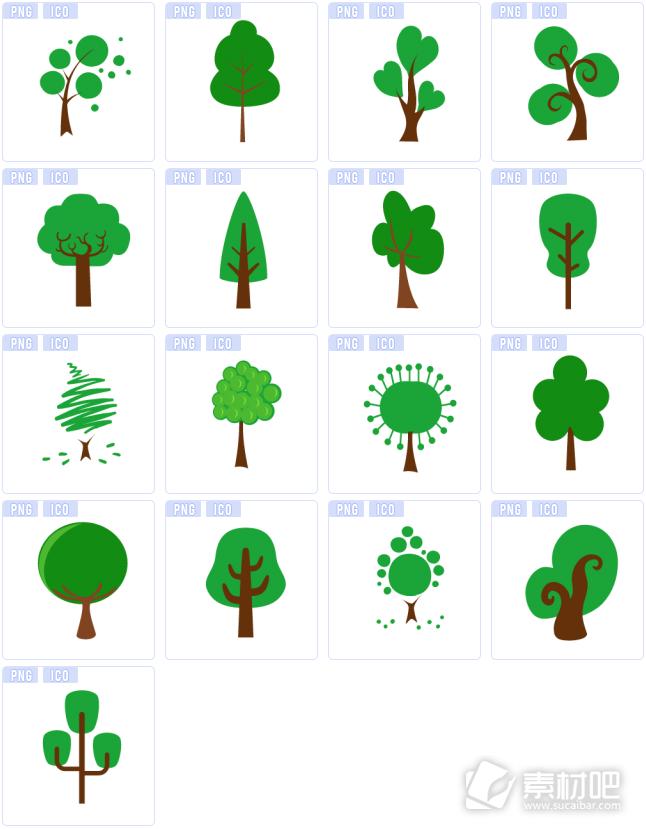 绿色树木图标免费下载