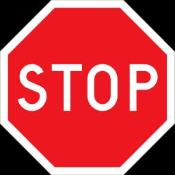 交通标志stop八角图标素材