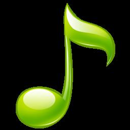 绿色音乐图标素材