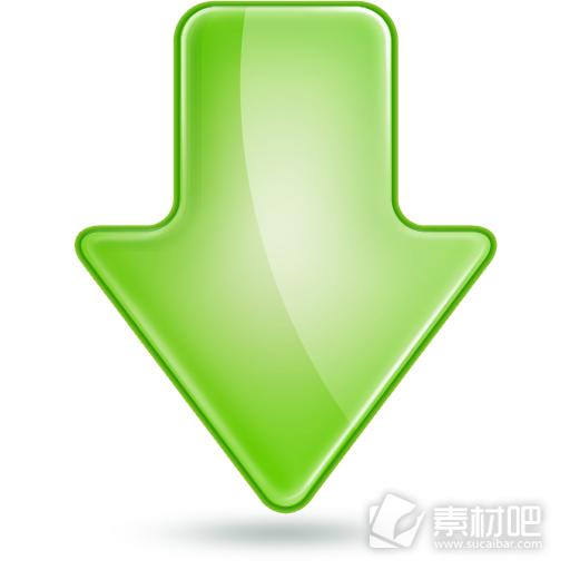 绿色精选下载图标素材