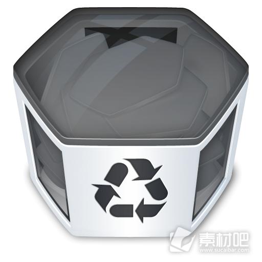 立体垃圾桶图标素材