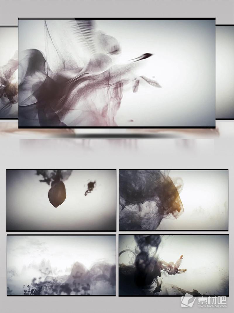 中国风水墨风景水墨国画中国风LED背景