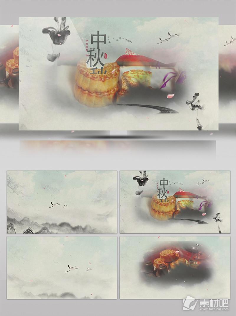 水墨中国风中秋节宣传片头
