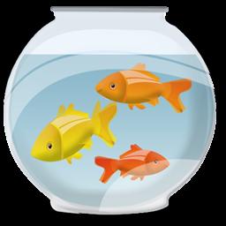 金鱼缸图标 彩色金鱼缸图标素材下载 素材吧