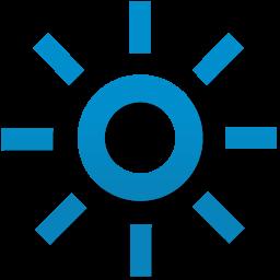 蓝色太阳图标素材下载