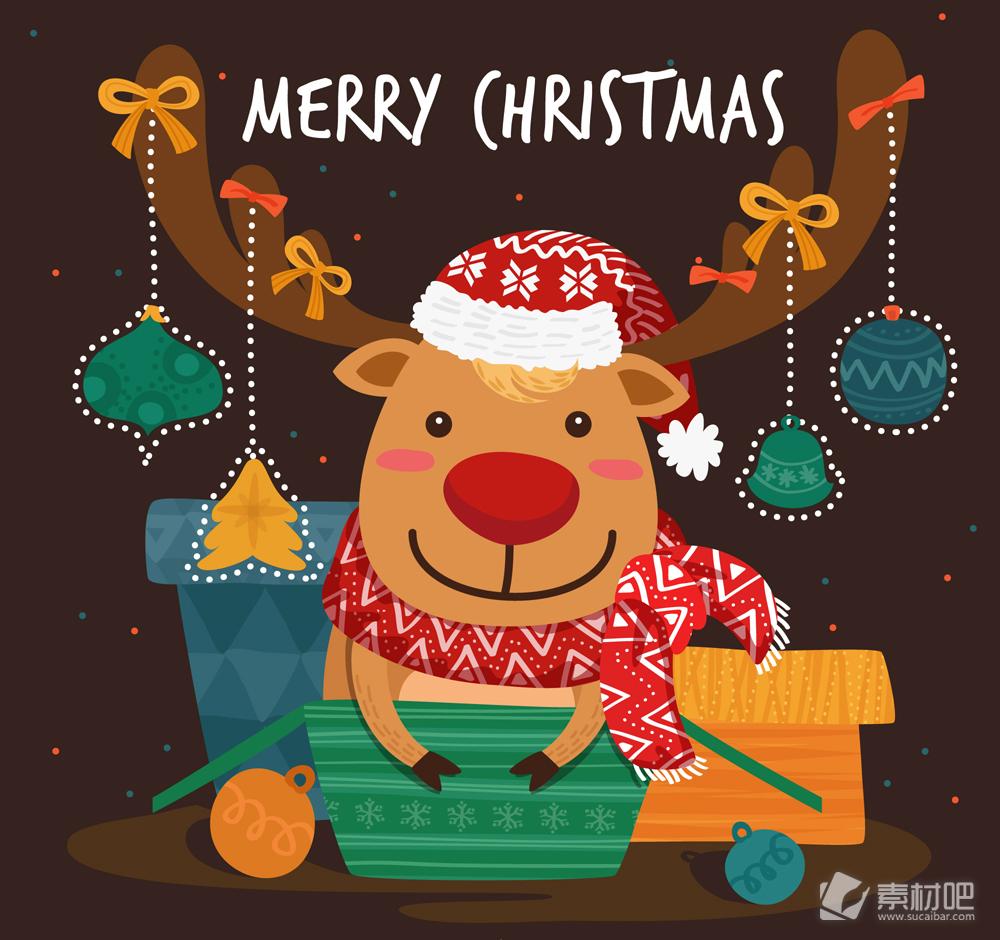 可爱圣诞节驯鹿设计bwin766net必赢亚洲