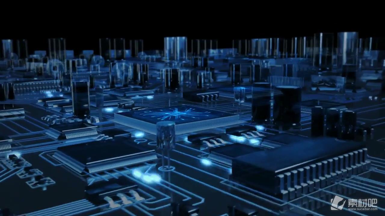 电子科技芯片信号传输